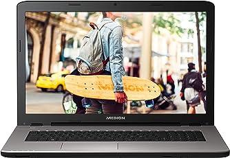 MEDION E7425 43,9 cm (17,3 Zoll Full HD) Notebook (Intel Pentium 4415U, 1TB HDD, 8GB RAM, Intel HD Grafik, Win 10 Home) Silber