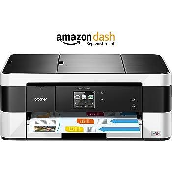 Brother MFC-J4420DW 4-in1 Farbtintenstrahl-Multifunktionsgerät (Drucken, scannen, kopieren, faxen, 6.000x1.200 dpi, USB 2.0 Hi-Speed, WLAN) schwarz/weiß mit Amazon Dash Replenishment Funktion