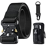 OMORC Tactical Belt, Military Belt, Men Heavy Duty Nylon Belt 125cm, with Quick Release Metal Buckle, Gift with Tactical Moll