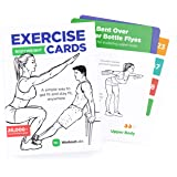 WorkoutLabs Exercise Cards: Bodyweight – Home Workout Cards Deck for Women and Men with 60 Exercises and 12 No Equipment Rout