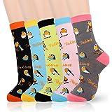 Belloxis Socks Women, Bird, French Bulldog, Chicken Socks Funny Novlety Odd Funky Cotton Socks Gifts for Women