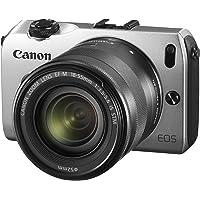 Canon EOS M kompakte Systemkamera (18 Megapixel, 7,6 cm (3 Zoll) Display, Full HD, Touch-Display) Kit inkl. EF-M 18-55mm 1:3,5-5,6 IS STM und Speedlite 90EX silber