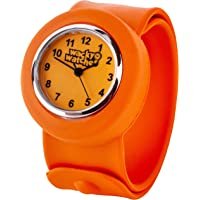 Orange Colour Popwatch Slapwatch Fast Fit Kids Childrens Silicone Watch Band Learn to Tell The Time Unisex Instant Fit…
