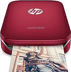 HP Sprocket Stampante Fotografica Istantanea Portatile, Rosso, 5 x 7.6 cm