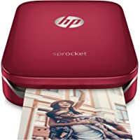 HP Sprocket Imprimante Photo Portable (Bluetooth, Impression Couleur sans Encre 5 x 7,6 cm) Rouge