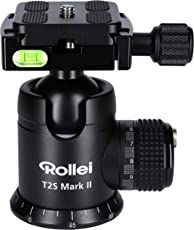 Rollei T2S Mark II - professioneller 360 Grad Kamera Stativ Kugelkopf mit Friktion, 15KG Tragkraft, Skalierung für Panorama Aufnahmen und 2 Wasserwaagen zum präzisen Ausrichten, inkl. Acra Swiss kompatibler Schnellwechselplatte