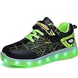 Aizeroth-UK LED Scarpe Sportive per Bambini Ragazze e Ragazzi 7 Colori USB Carica Lampeggiante Luminosi Running Sneakers Tras