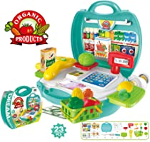 Popsugar 23 Pieces Kids Play Super Market (Blue,THBPL8314)