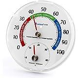 Lantelme Thermo-hygromètre - Système combiné hygromètre/thermomètre analogique pour intérieur ou extérieur