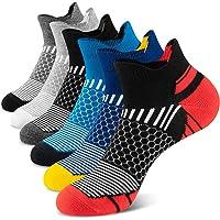 Onmaita Men's Running Socks,6 Pairs Trainer Ankle Socks, Cotton Low Cut Socks for Sports,Hiking,Walking Cycling…