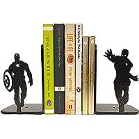 HeavenlyKraft Superheros Decorative Metal Bookend, Non Skid Book End, Book Stopper for Home/Office Decor/Shelves, 5.9 X…