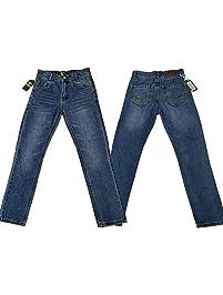 justfound4u Pantalones Vaqueros elásticos Ajustables para niños a7568f12fd2