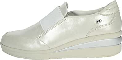 Valleverde 18151 Slip-ON Donna in Pelle Silver Perlato