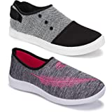 Shoefly Women's (5046-5050) Multicolor Casual Sports Running Shoes (Set of 2 Pair)