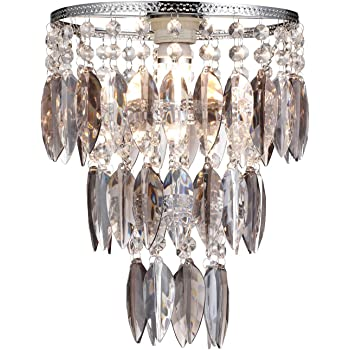 Easy fit nikki smoked lamp pretty shade for ceiling fitting modern easy fit nikki smoked lamp pretty shade for ceiling fitting modern bedroom chandelier decoration aloadofball Choice Image