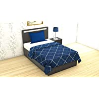 "RRC Gless Cotton Premium 200TC Single Duvet/Quilt/Razai/Comforter Cover 60"" x 90"" Inch (Blue)"