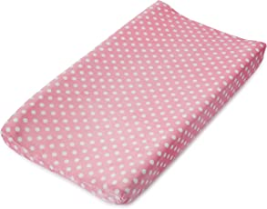 Summer Infant Ultra Plush Changing Pad Cover, Pink Dots for Days