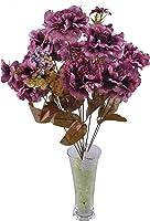 11 Dallı 50 cm Karanfil Yapay Çiçek Mor-CK002MR