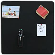 Marine Pearl (1.5 X 1.5 Feet) Designer Pin Board, Photo Display Board, Wall Hanging, Office, Key Hanger- (Square Black)
