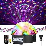 GUSODOR LED Bluetooth Éclairage Lampe de Scène à Télécommande&Commande Sonore Feux de Balle Magique en Cristal Sonore/Musique