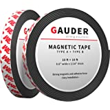 GAUDER A + B Bande Magnétique Autocollante pour Moustiquaire | Ruban Magnétique Adhésif | Rouleau Aimanté Puissant