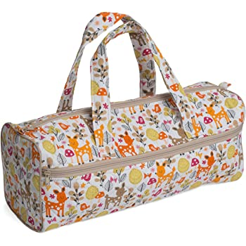 Craft // Knitting Bag HGKB\206 Deer Print Fabric Handles