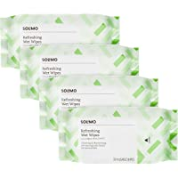 Amazon Brand - Solimo Refreshing Wet Wipes, Cucumber - 30 Wipes (Pack of 4)