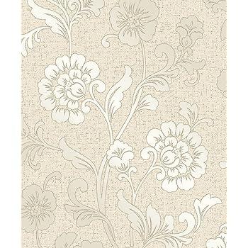 FD41971 Fine Decor Quartz Cream Gold Flower Floral Glitter Wallpaper
