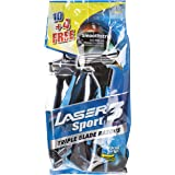 Laser Sport 3 Disposable Razor, 14 Pieces