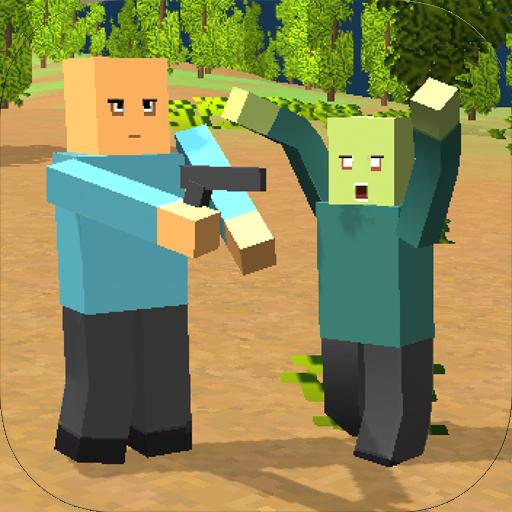 Survive the Block Zombies (Shark Zombie Spiele)