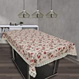 OrientalWeavers PVC Lotus 6 Seater Dining Table Cover, 54 X 78 in ,Rectangle Shape with Maching Lace Border ( Fits Table Top