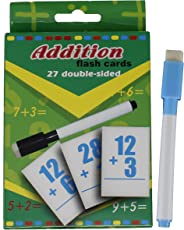 Fusine™ NEW Creative Educational Aids Mathematical concepts Division, multiplication, addition, subtraction ( Maths Flash Cards with Pen )( Write & Learn ) (Addition)