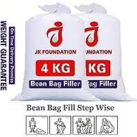 Jk Foundation The Silky Beans Bag Filler Refill 4 KG A-Grade Beans Filling