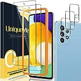UniqueMe [2+3 Pack] Screen Protector Compatibel met Samsung Galaxy A72 (4G/5G) en cameralenbeschermer, echt 9H hardheid, geha