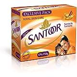 Santoor Plain Bathing Bar, 150gm [Pack of 4]
