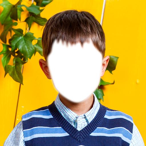 Kinder-Foto-Montage