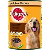 Pedigree Straccetti in Salsa con Pollo e Verdure Lattina 400 g - Cibo per Cane - 24 Lattine