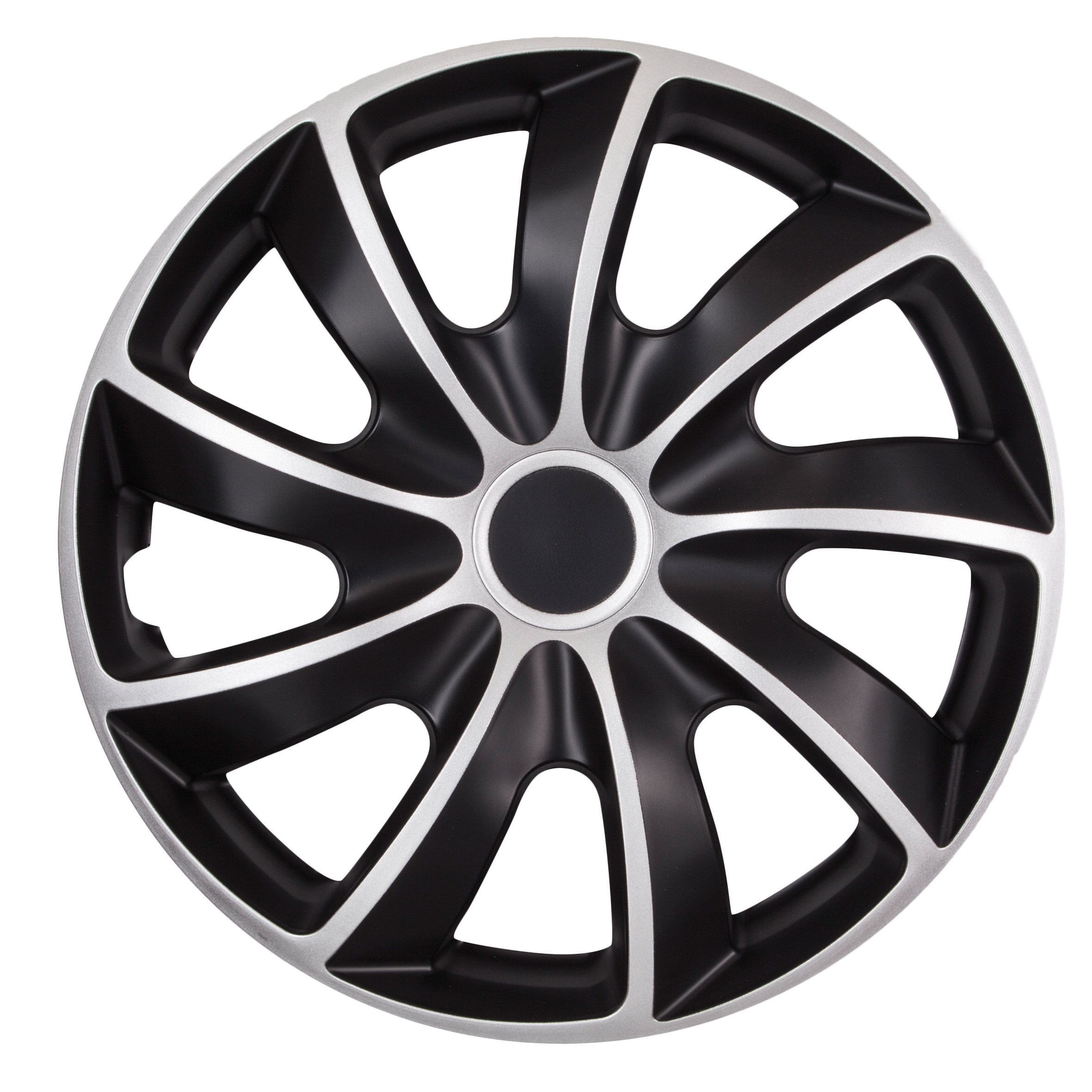 Set of 4 Petex LeMans Pro RB543514 Wheel Trims 14 Inch Double-Lacquered ABS Plastic in Box Black