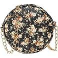ADISA Women Girls Floral Print Round Sling Bag