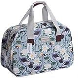 Oilcloth Holiday Travel Weekender Tote Bag Handbag Floral Owl Stripe Print