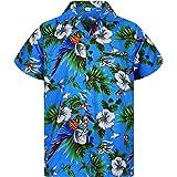 Funky Camisa Hawaiana Señores | XS-12XL | Manga Corta Bolsillo Delantero | Impresión de Hawaii | Cherry Parrot