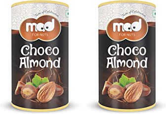 MAD Coated Roasted Almonds Chocolate (Rich Dry Fruit Chocolate) (95 Grams+95 Grams)