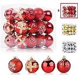 Aitsite 24PCS Bolas de Navidad 6 cm Bolas de árbol de Navidad Adorno de Pared Colgante de Pared Adornos Decoraciones Árbol Bo