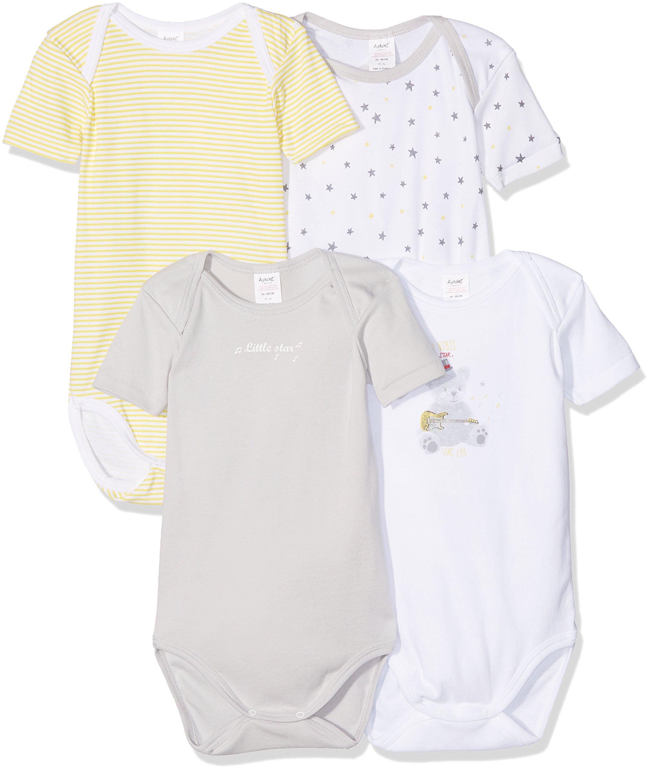 Alphabet 4 Us Mc, Body para Bebés, pack con 4 unidades