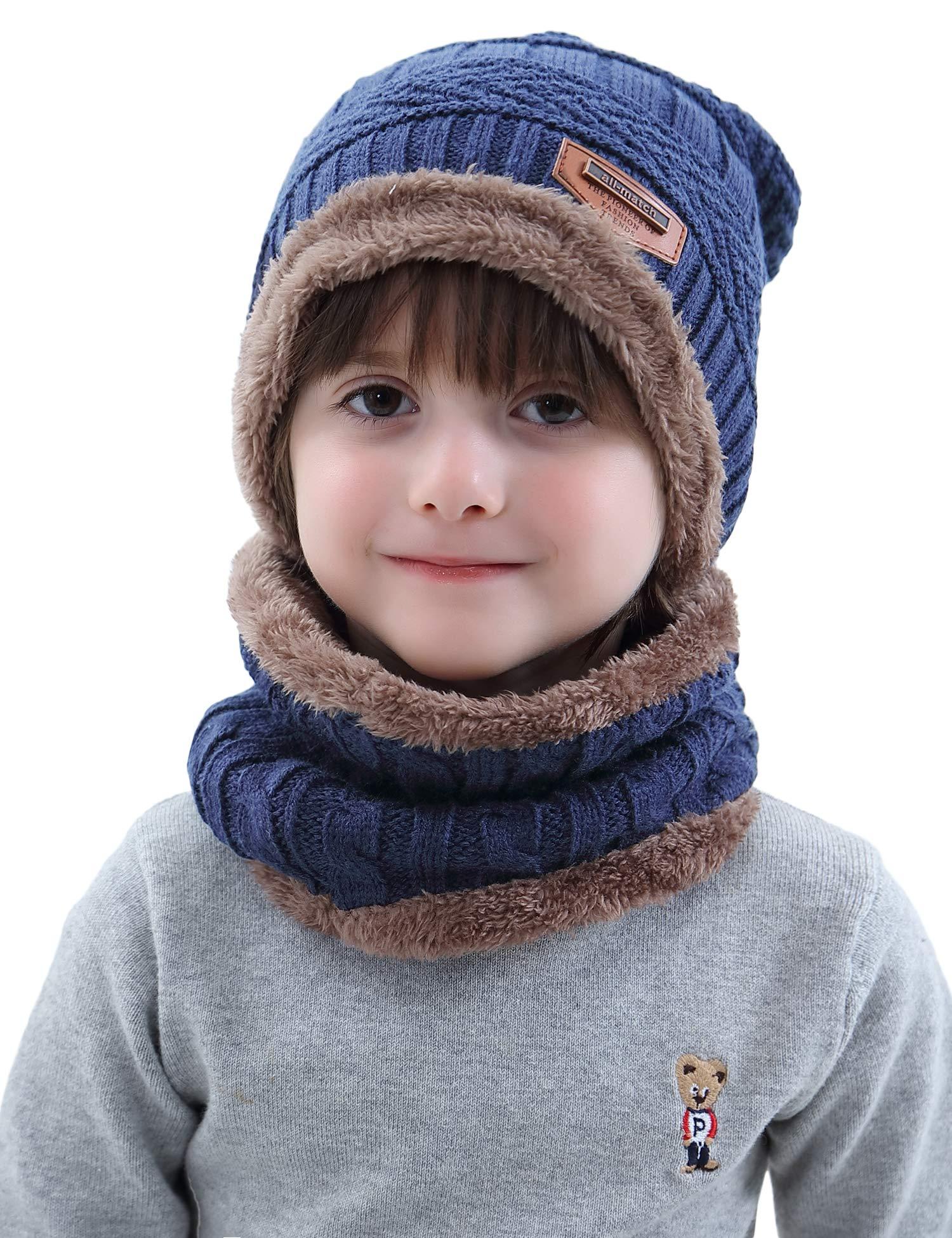 Aibrou Cappello Uomo Invernali【Guanti Possono Essere Utilizzati su Schermi Mobili e Tablet】 3 in 1 Cappello Sciarpa… 2 spesavip