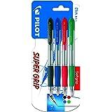 Pilot Spain Super Grip - Pack de 4 bolígrafos, punto medio, multicolor