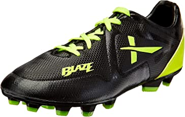 Vector X Blaze Football Shoes, (Black and Green)