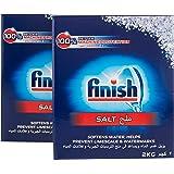 Finish Dishwasher Salt, 2 Kg (Pack of 2)