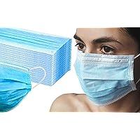 50x EWANTO Mundschutzmasken Einweg Gesichtsmaske 3-lagig Hygiene-Maske Mund Nasen Schutz mit Ohrenschlaufen GB/T32610…