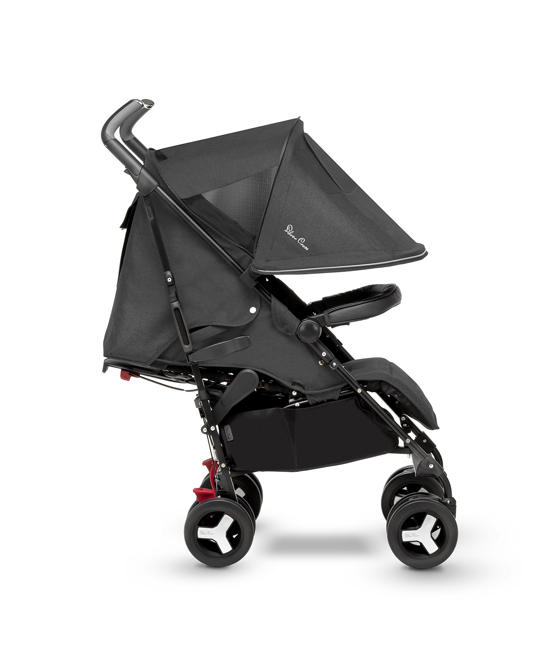 Silver Cross Reflex Stroller, Onyx Silver Cross Reflex is an advanced stroller, suitable from birth up to 25kg, with a wealth of features 5-point Harness Combine with Silver Cross Simplicity Car Seat to create a convenient Travel System 3